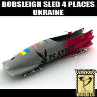 3d max bobsleigh sled 4 places