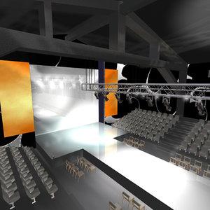 stage catwalk 2 3d max