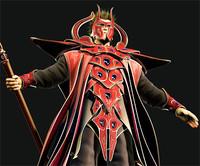 Fantasy sorcerer warrior