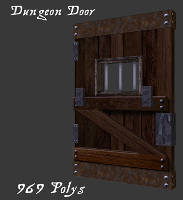 dungeon door 3d model