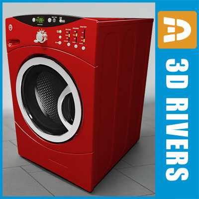 electric washer 3d model