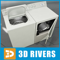 electric washer dryer 3d model