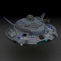 3ds max ufo mothership goliath
