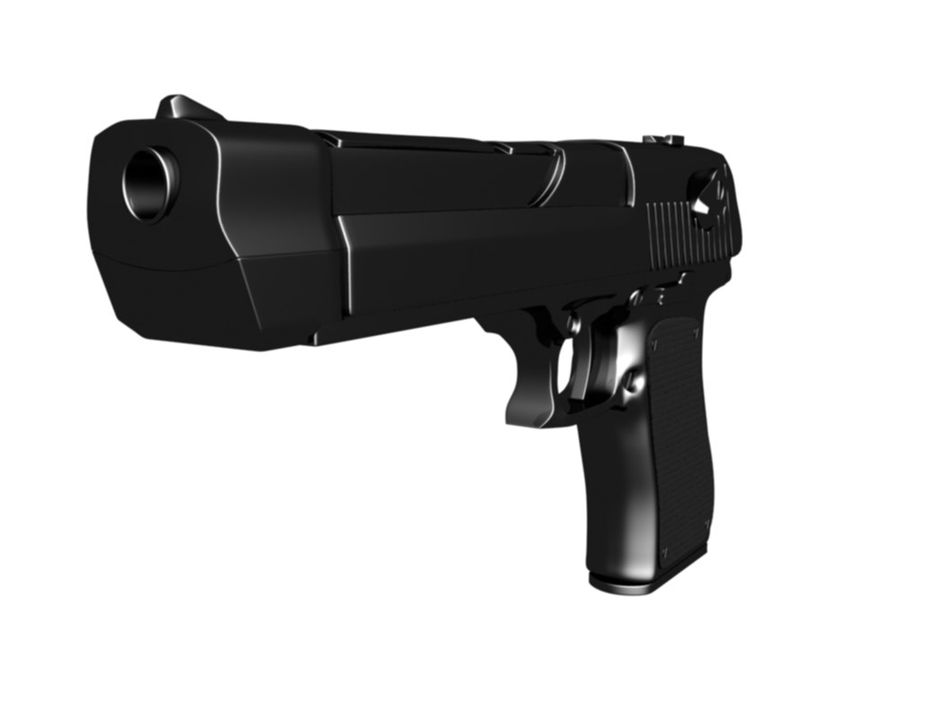 3d model of desert eagle