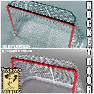 ice hockey door 3d model
