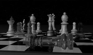 3d model chess set