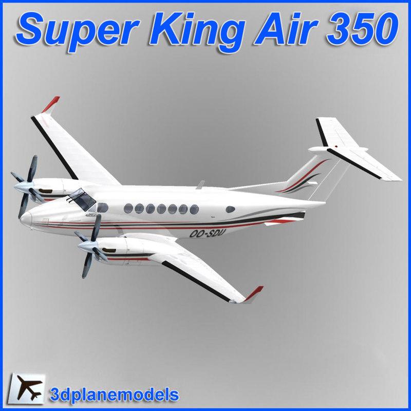 beechcraft super king air 3d max