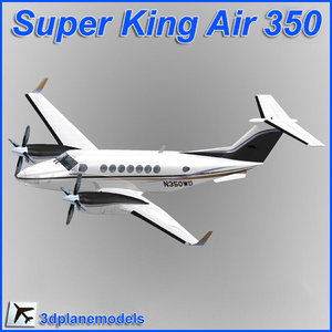 3d beechcraft super king air