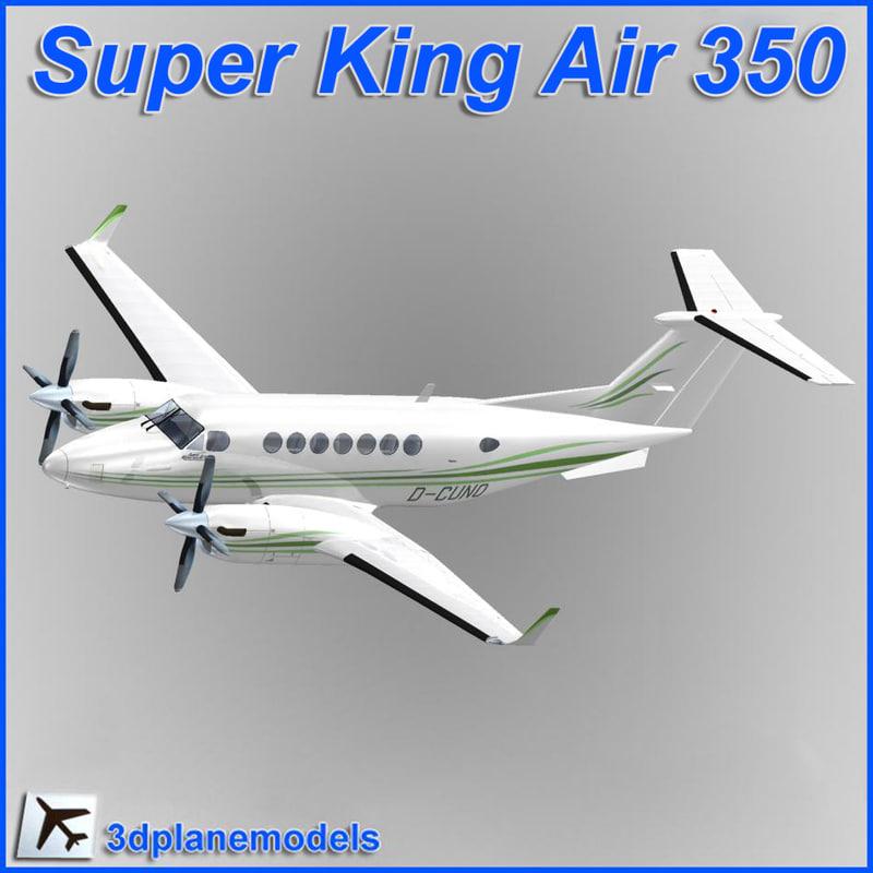 3ds max beechcraft super king air