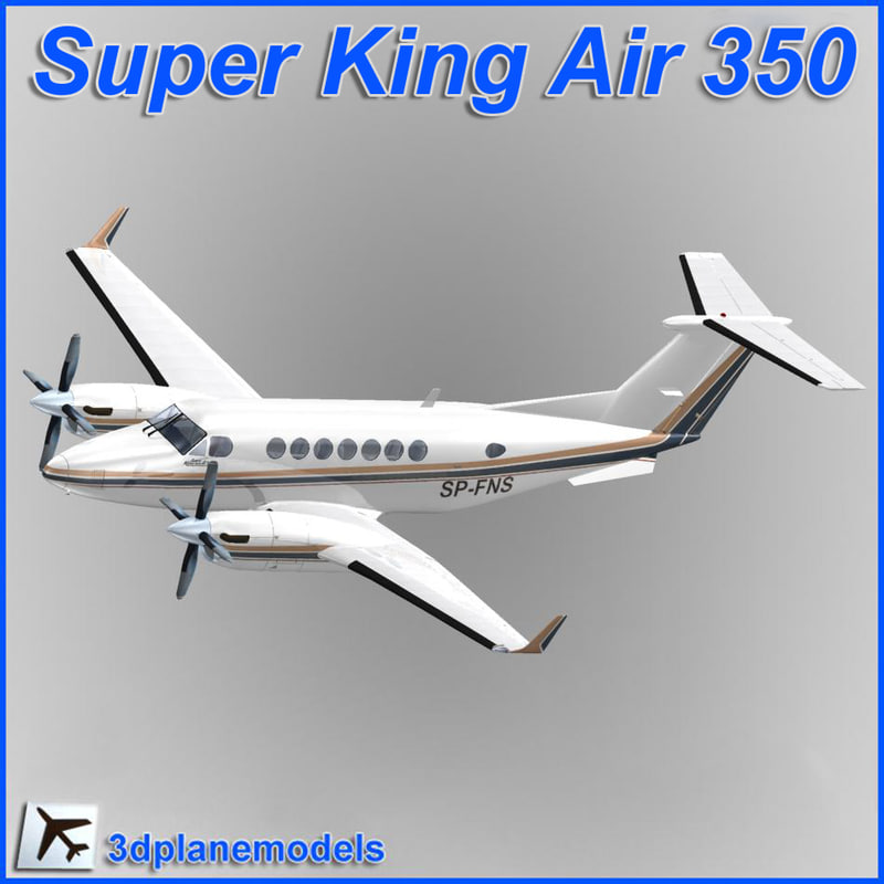 3d beechcraft super king air model
