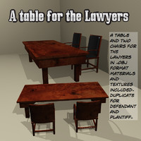 lawyer table 3d obj