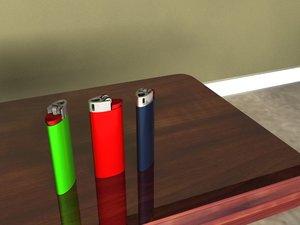 3d model lighters light