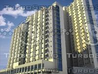 3d exterior scene model