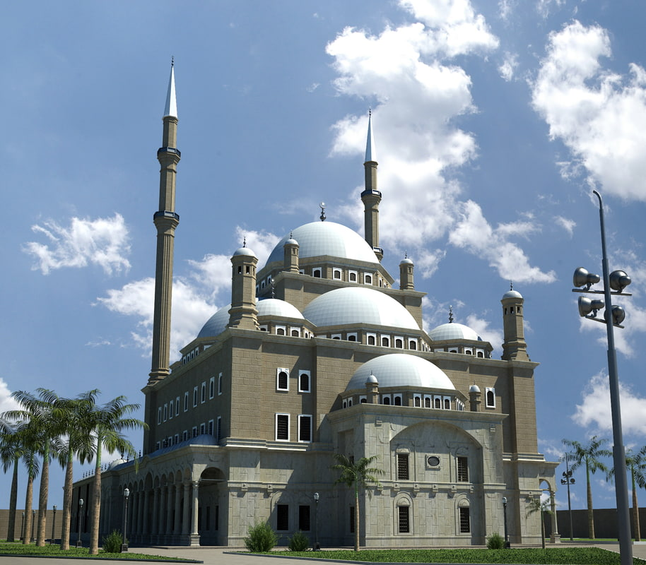 3ds max mosque mohammed ali