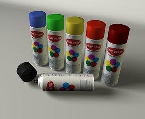 spray cans 3d c4d