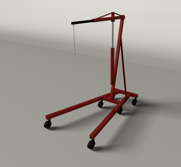 engine hoist 3d model