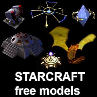 free pack starcraft terran 3d model