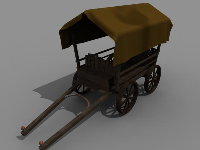 ma medieval horse wagon