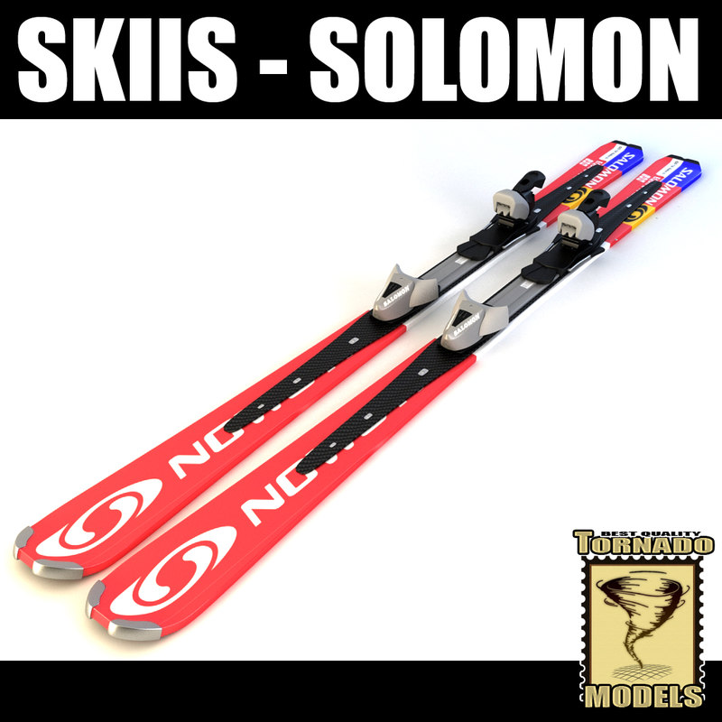 alpine solomon skis 3d model