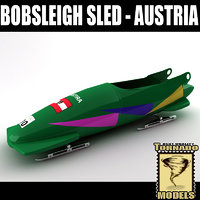 bobsleigh sled - austria 3d 3ds