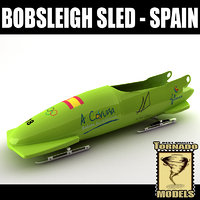 3d bobsleigh sled - spain model