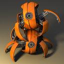 3d robot rigged blender