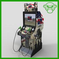 3d model stand arcade gun