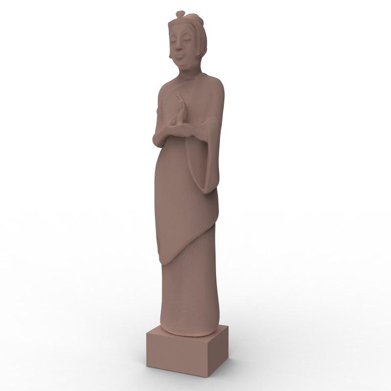 maya female sculpture