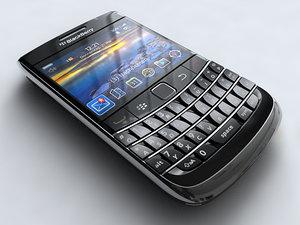 blackberry bold 9700 mobile phone 3d model