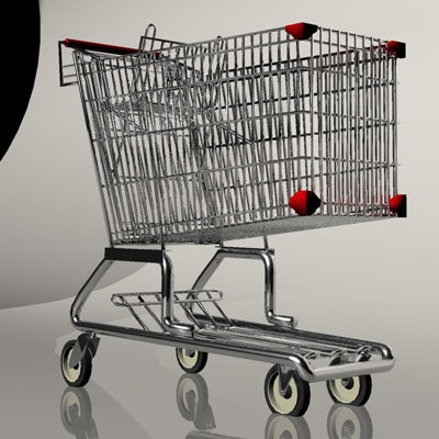 shoping cart 3d model