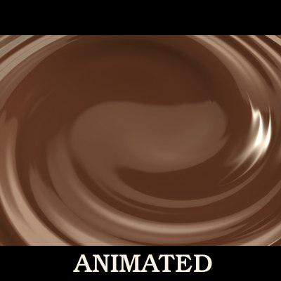liquid chocolate whirl 3d max
