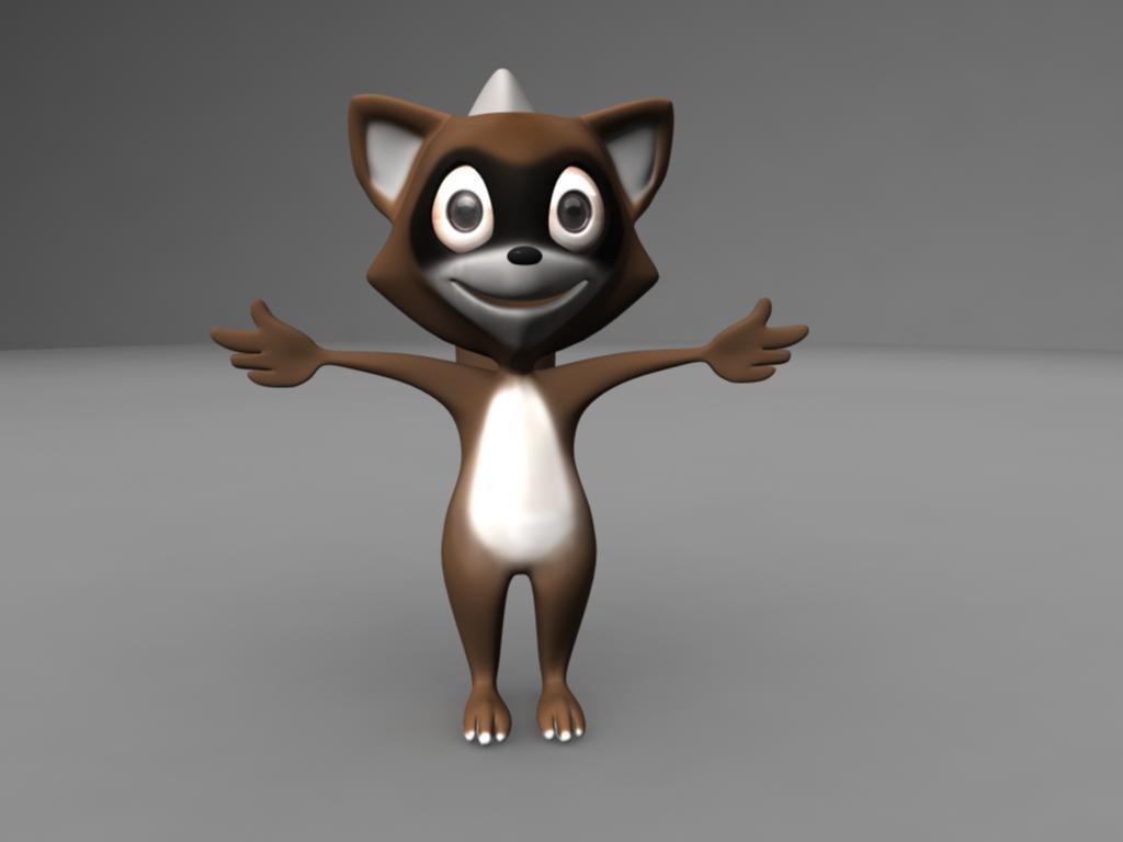 ma raccoon cartoon character