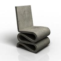designer chair 3d max