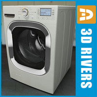 3d model white washing machine