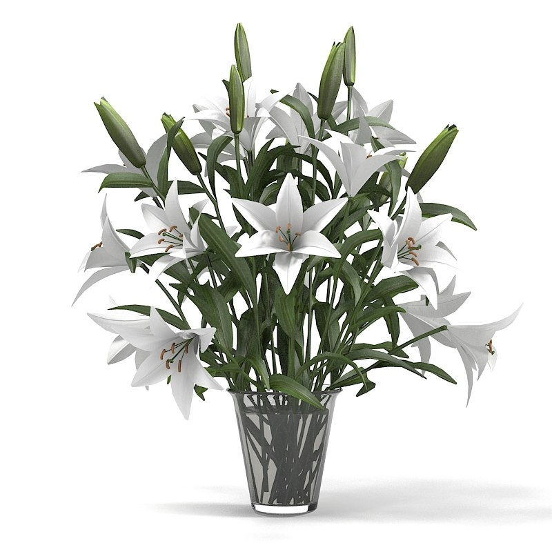 3d lily bouquet
