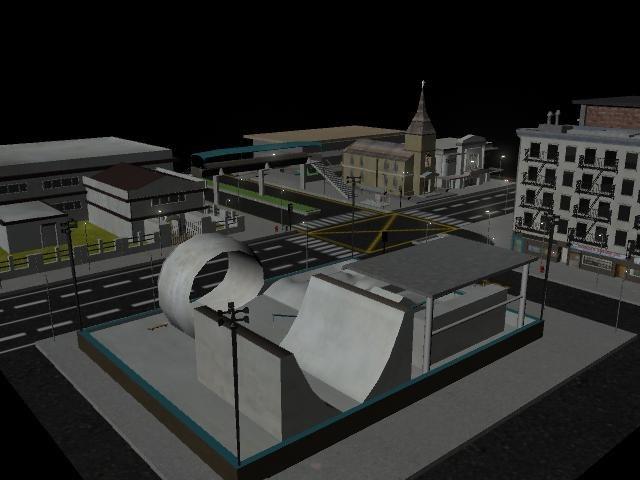 city modelled 3d ma