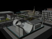 city modelled 3d ma