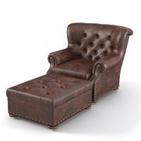 Ralph Lauren Writer armchair pouf