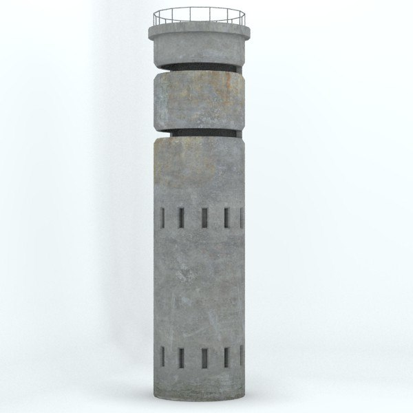 3d old lookout tower