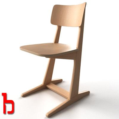school chair 3d max