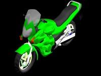 Sports Bike green
