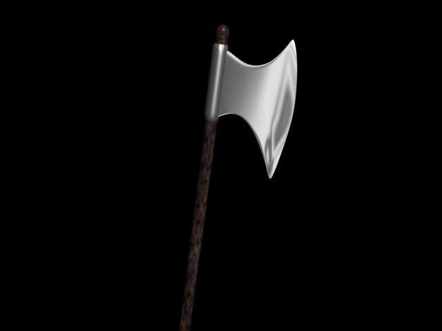 3d battle axe hq model