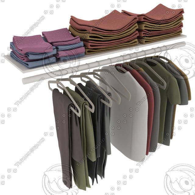 3d clothing closet model