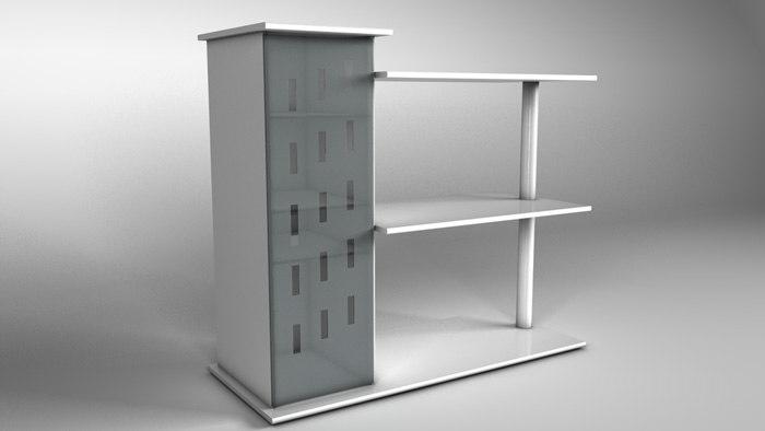 3d rack model