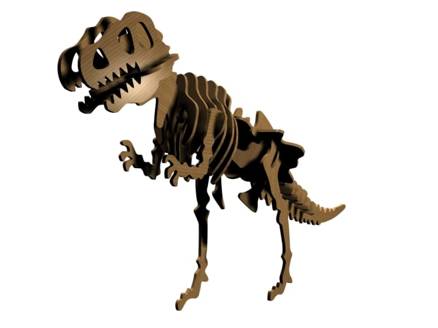 3d wooden tyrannosaurus rex