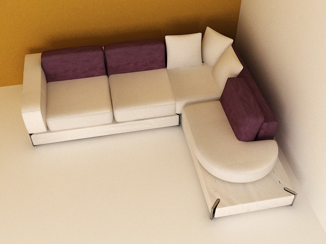 3ds max couch fabric