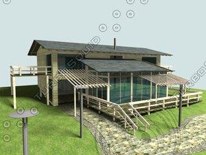cottage shale 3d model
