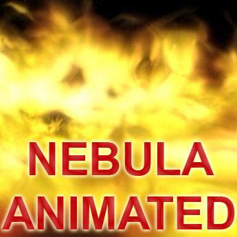 3d model nebula space particles