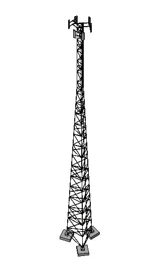 3ds max tower 60 m