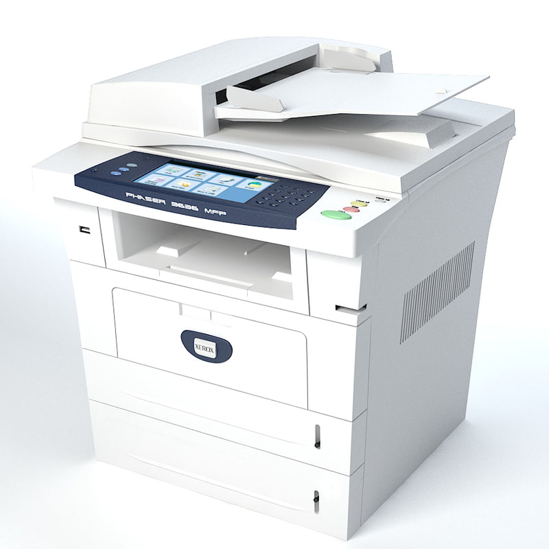 xerox copier scanner 3d model